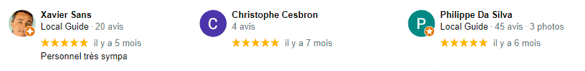 Avis google - dératisation Cholet